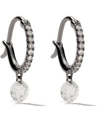 Raphaele Canot 18kt Black Gold Set Free Diamond Mini Hoops - Черный