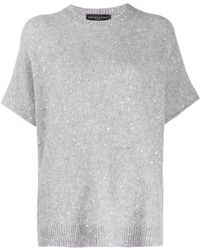 Fabiana Filippi Oversize Sequin-yarn Knit Top - Gray