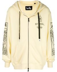Haculla Guy And His Gun Zip Front Hoodie - White