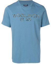 Woolrich ロゴ Tシャツ - ブルー