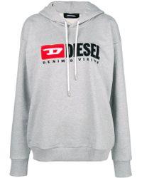 DIESEL - Denim Vision Logo Hoodie - Lyst