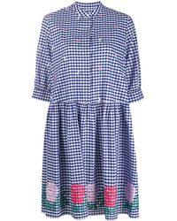 Weekend by Maxmara Embroidered Smock Dress - Blue