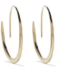 Wouters & Hendrix 18kt Gold Hammered Hoop Earrings - Metallic