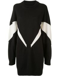 MM6 by Maison Martin Margiela Платье-свитер Вязки Интарсия - Черный