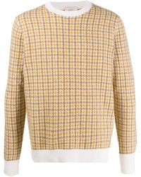 Altea - Long-sleeve Houndstooth Jumper - Lyst