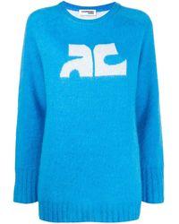 Courreges ロゴ セーター - ブルー
