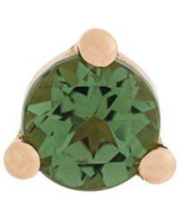 Delfina Delettrez 18kt 'Dots' Gelbgoldohrstecker mit Turmalin und Perle - Grün