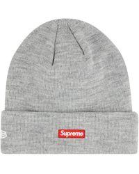 Supreme X New Era S Logo Beanie - Grey