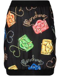 Moschino Biker Bag スカート - ブラック