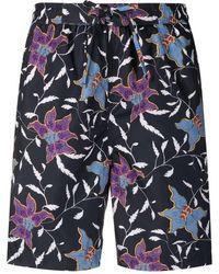 Isabel Marant Floral Print Swim Shorts - Black