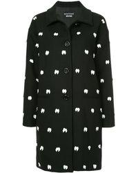 Boutique Moschino マルチリボン シングルコート - ブラック