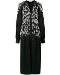 The Attico Beaded V-neck Dress - Черный