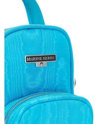 Marine Serre ロゴ ショルダーバッグ - ブルー