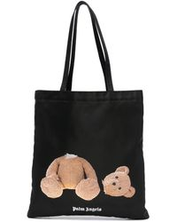 Palm Angels Bear Shopping Tote Bag - Black