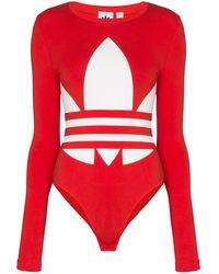 adidas Боди С Логотипом - Красный