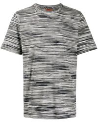 Missoni ストライプ ニットtシャツ - ブラック
