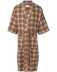 Fear Of God Plaid Wrap Coat - Brown