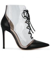 Gianvito Rossi Plastic Embellished Boots - Zwart