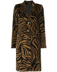 Nili Lotan Rosalin Tiger-print Coat - Brown