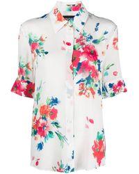 Boutique Moschino Hemd mit Blumen-Print - Mehrfarbig