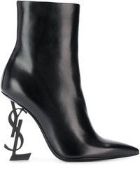 Saint Laurent Opyum 110 Stiefelette aus schwarzem Leder
