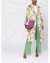 Etro Gabardina con estampado tropical - Multicolor