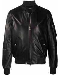 Amiri ジップアップ レザージャケット - ブラック