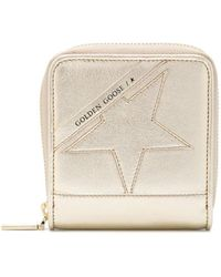 Golden Goose Deluxe Brand Star Detail Compact Wallet - Metallic