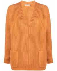 ODEEH Purl-knit Cashmere Cardigan - Orange