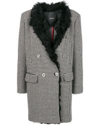 Pinko - Double Breasted Coat - Lyst