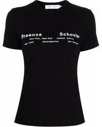 PROENZA SCHOULER WHITE LABEL ロゴ Tシャツ - ブラック