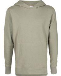 John Elliott Long-sleeve Fitted Hoodie - Green