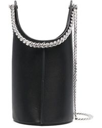 Kara チェーントリム バケットバッグ - ブラック