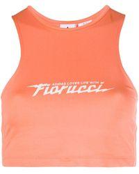 Fiorucci X Adidas Cropped Top - Orange