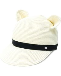 Karl Lagerfeld - Ears Straw Cap - Lyst