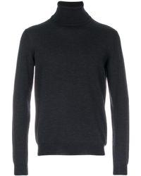 Zanone Roll Neck Sweater - Gray
