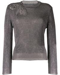 Alberta Ferretti - Metallic Knit Sweater - Lyst
