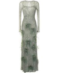 Rachel Gilbert Petunia スパンコール ドレス - グリーン