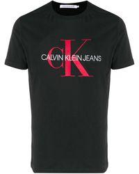 Calvin Klein Camiseta con logo estampado - Negro