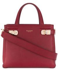 Serapian Small Melinè Tote Bag - Red