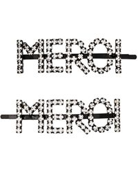 Ashley Williams Merci Crystal-embellished Hair Pins - Metallic