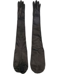 Manokhi Long Zipped Gloves - Black