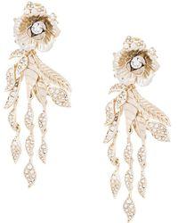 Marchesa Rose Drop Earrings - Metallic