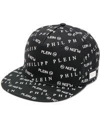 Philipp Plein Gorra de béisbol con logo - Negro