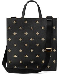 Gucci - Bee Star Leather Tote - Lyst
