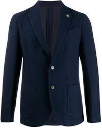 Lardini Blazer à patch - Bleu