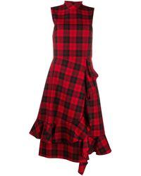 Mulberry Pollie Tartan Dress - Red
