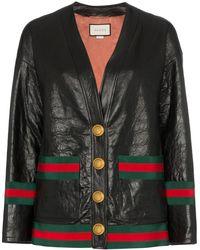Gucci レザー ジャケット - ブラック