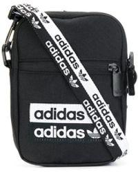 adidas ロゴ クラッチバッグ - ブラック