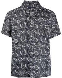 Lardini Рубашка С Графичным Принтом - Синий